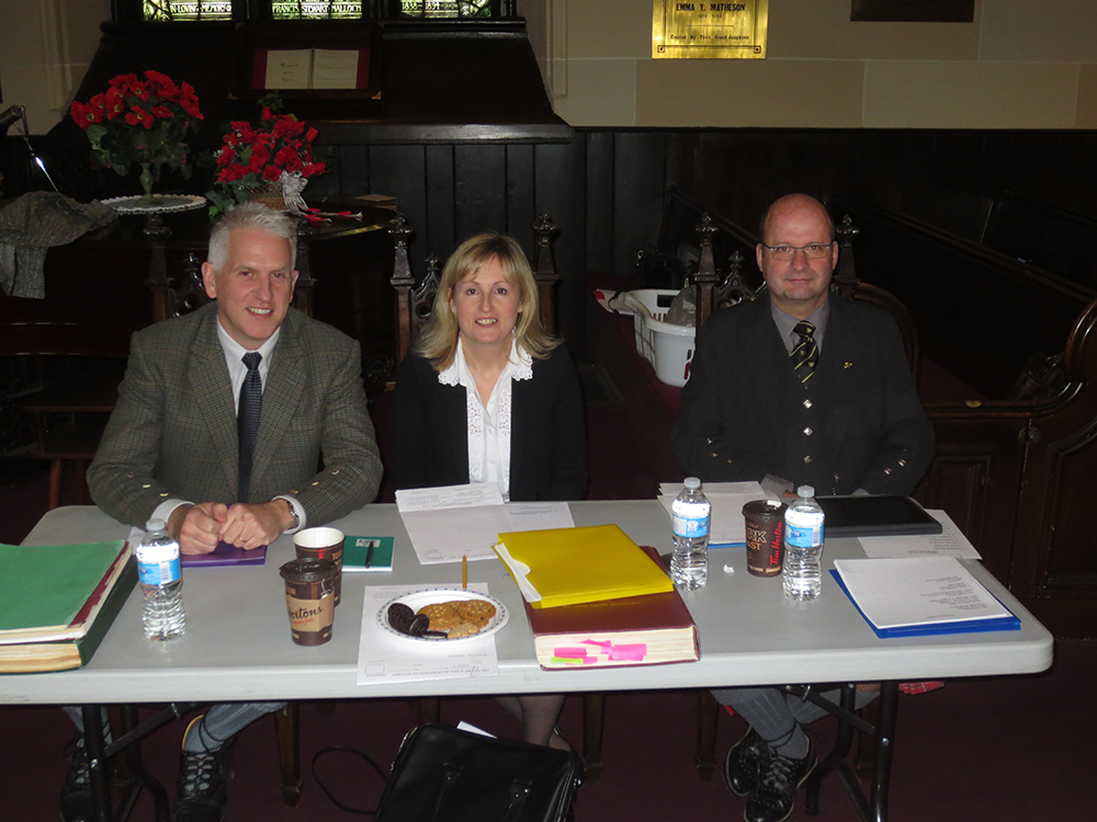 2014 Adjudicators Andrew Berthoff, Patricia Henderson and Iain MacDonald.